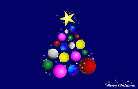 blue background with christmas tree Stock Vector - 9933660