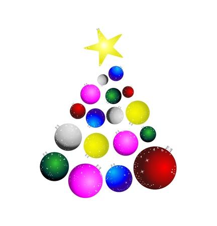 fir tree balls: abstract christmas tree