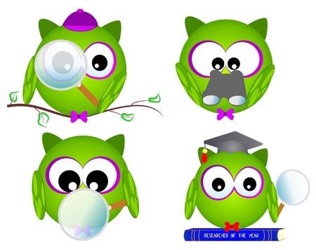 owl researcher Stock Vector - 9933666