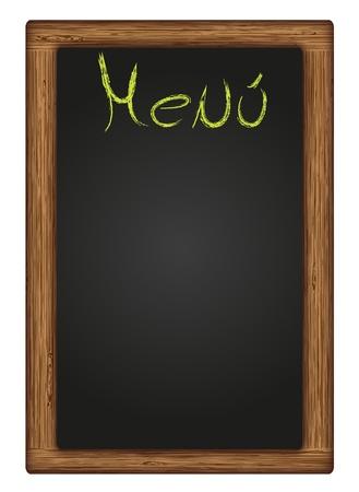 vector written blackboard menu Vector
