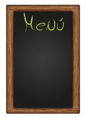vector written blackboard menu Illustration