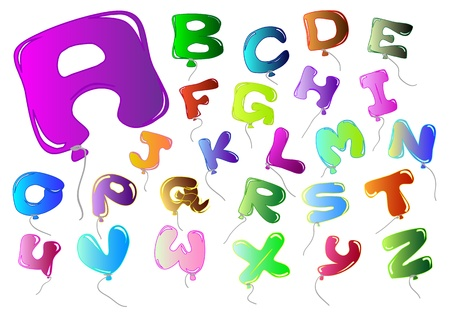 letters colorful balloon-shaped