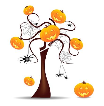 trick: vivid wallpaper halloween Illustration