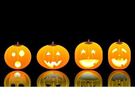 halloween decoration: halloween pumpkins