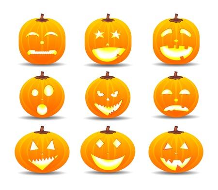 Halloween-Kürbisse Vektorgrafik