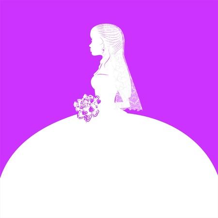 veiled: bride