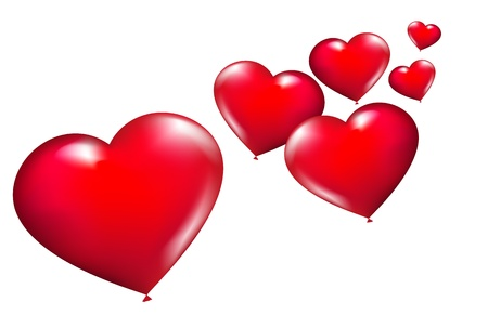 vector hearts: hearts background, vector