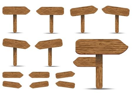vettoriale: Segnaletica in legno
