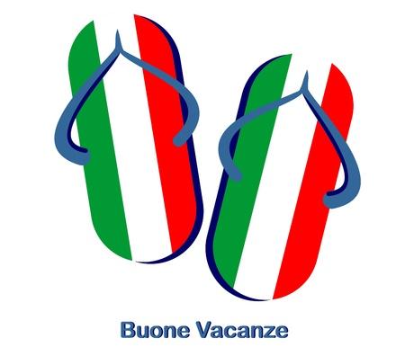 "background ""happy holidays"" italian sandals Stock Vector - 10121109"
