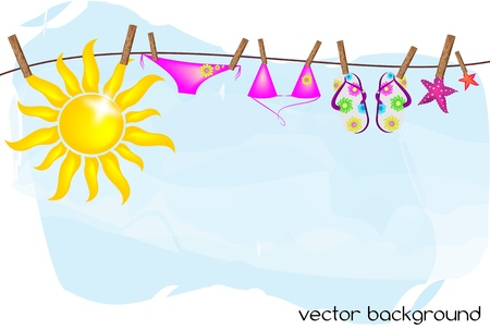 thongs: summer vector background