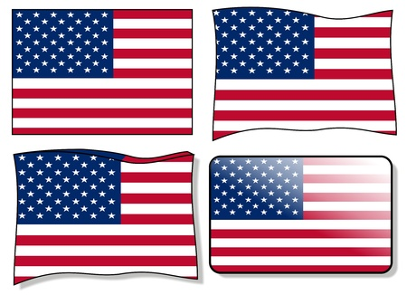 september u.s. flag vector Vector