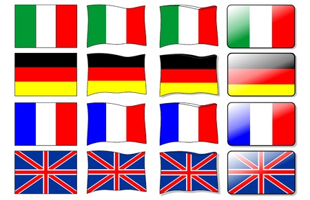 german culture: european flags