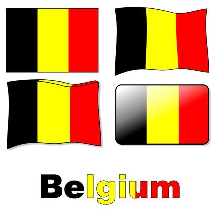 flag belgium Stock Vector - 10121146