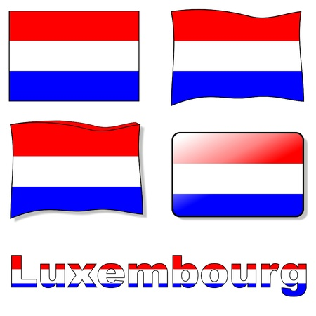 luxembourg: luxembourg flag Illustration