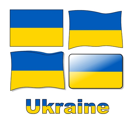 ukraine flag Vector
