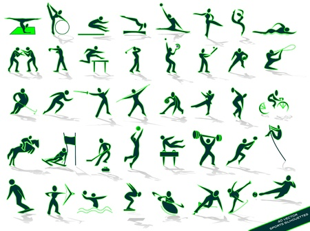 sport icon: green outlines sports