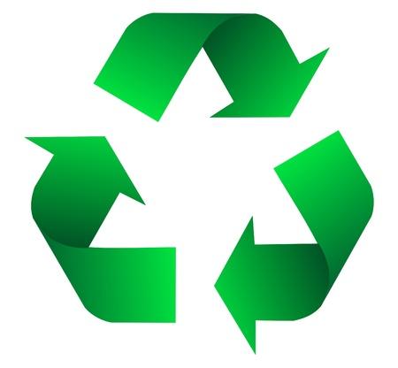 biological waste: icono de reciclaje Vectores