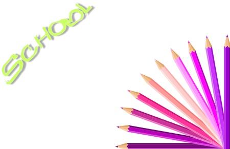 vettoriale: matite sfondo colorato Illustration