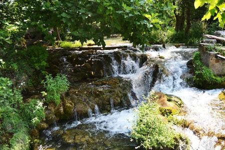 wonderful waterfalls of krka sibenik, croatia photo