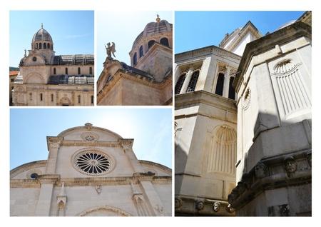 monumental: monumental dome of the cathedral of sibenik, croatia
