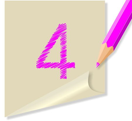 italics: message with the number 4 Illustration