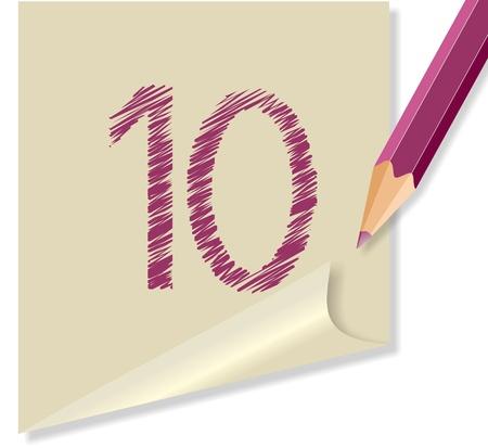 school agenda: mensaje con el número 10 Vectores