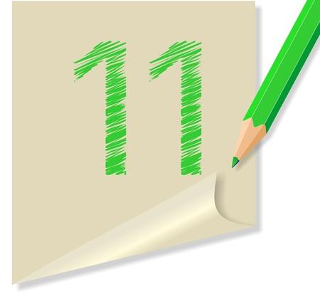 verde: post it numero 11