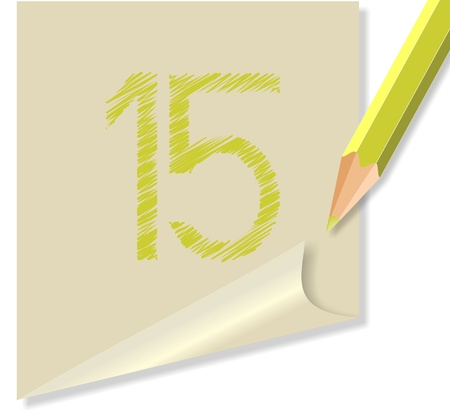 vettoriale: post-it NUMERO 15
