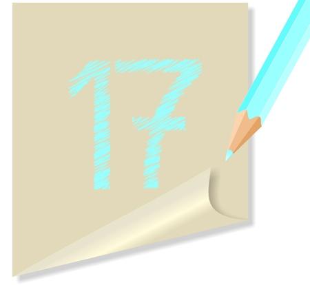post-it NUMERO 17