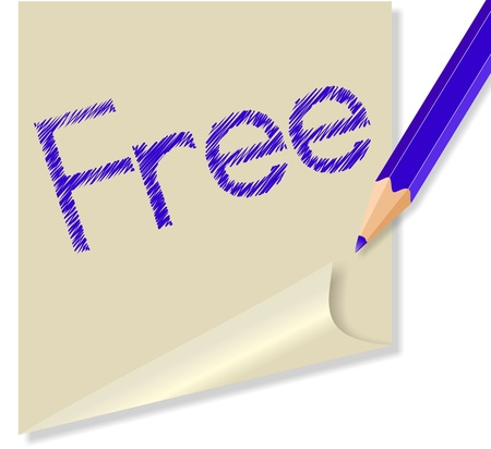 """message with the word """"free"""" Vector"""