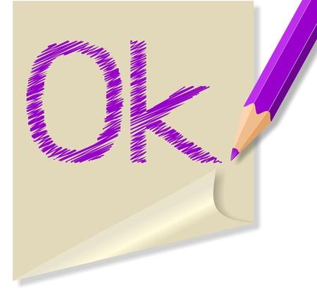 parola: messaggio con la parola ok Illustration