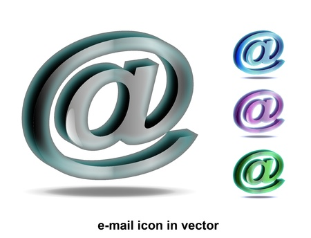 e-mail icon in the vector Stock Vector - 10580004