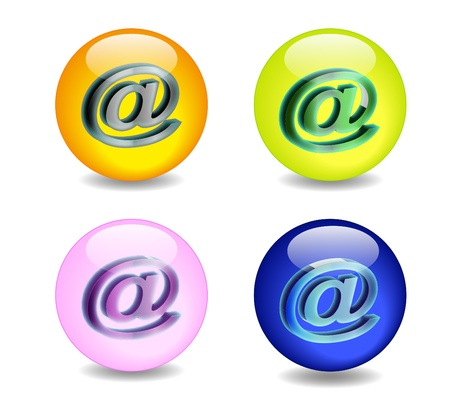 luce: effetto palla di vetro con licona e-mail Illustration
