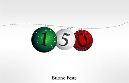 suspend: merry christmas LItalia, 150 anni Illustration