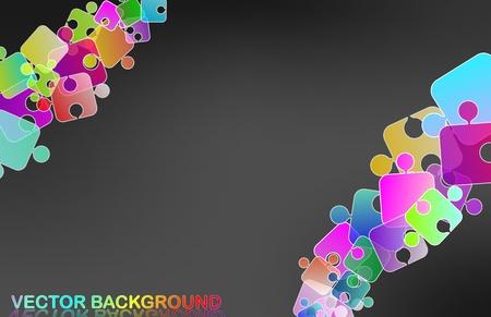 rainbow puzzle Stock Vector - 10652297