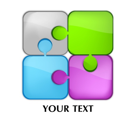 glass puzzle Vector