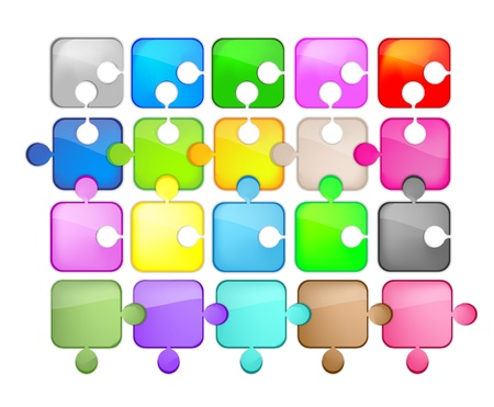 icons glass shaped puzzle Stock Vector - 10652295