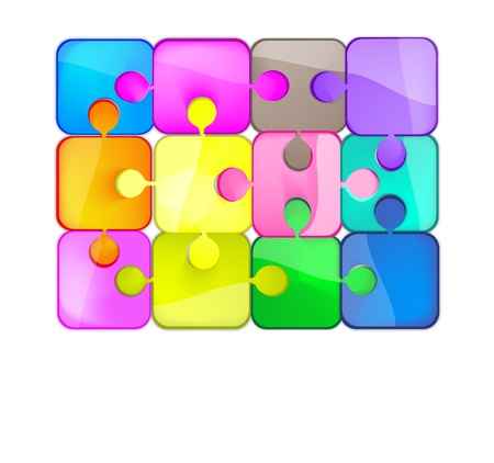 colorful puzzle Stock Vector - 10664372