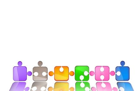 diagonale: puzzle colorato
