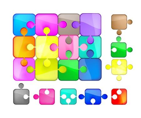 puzzle colorato Vector