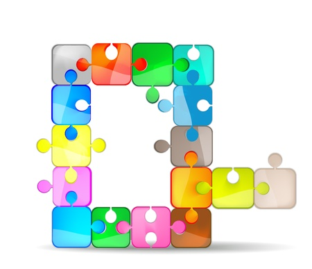 letter q with the colorful puzzle Vector