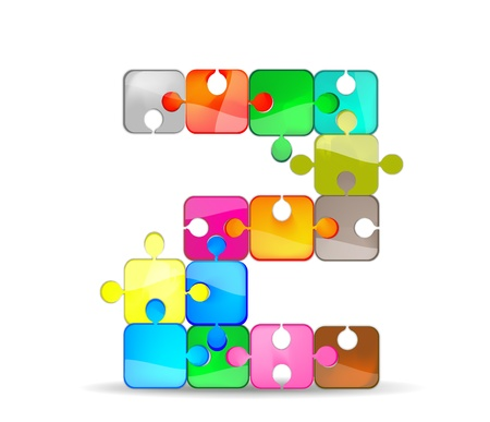 letter z with colorful puzzle Vector