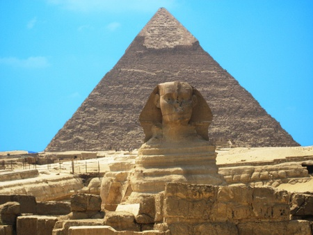 the sphinx and the pyramid, egypt Stock Photo - 10875153