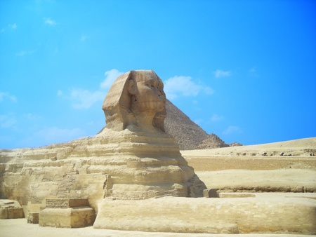 the sphinx and the pyramid, egypt photo