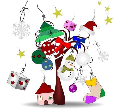 oryginalny rysunek świąt Bożego Narodzenia Ilustracja