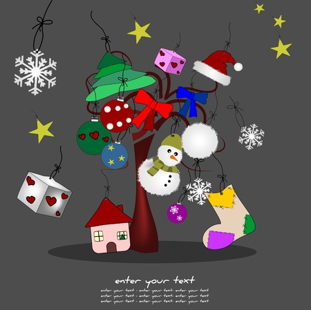 original illustration of christmas Stock Vector - 10786843