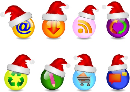 main business christmas icons Stock Vector - 10875200