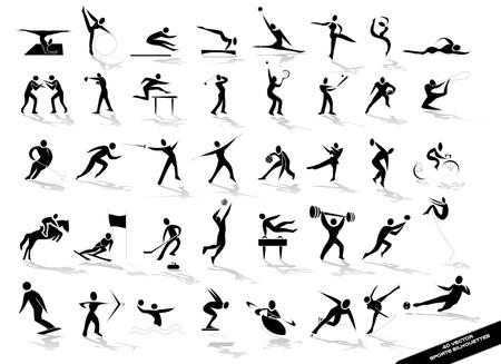 esgrima: deportivos siluetas negras