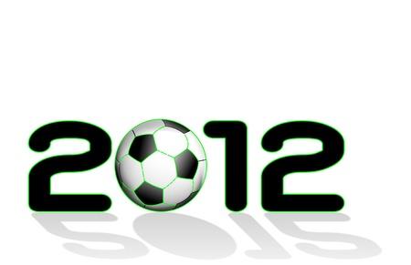 Scritta 2012 con Pallone da calcio Ilustracja