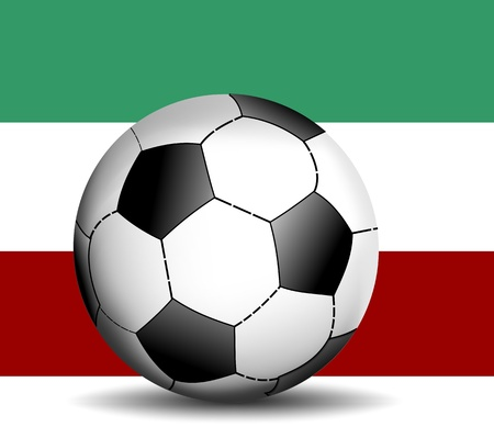 stage door: italian flag with soccer Illustration